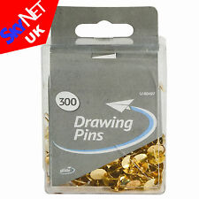 300x Brass Drawing Pins, Thumb Tacks or Push Pins Strong Board Pins Art Craft