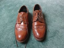 Men's Brown Leather Shoes/Brogues - Size 10 - Very Good Condition