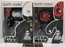 Lot Of 2 - Star Wars Mighty Muggs Darth Vader & Darth Maul Figures - BRAND NEW
