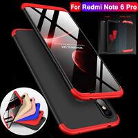 For Xiaomi Redmi Note 6 Pro Case 360° Full Protective Armor Cover+Tempered Glass