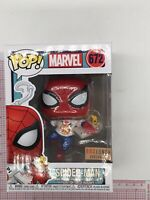 Funko Pop Marvel Spider-Man with Pizza Box Lunch Exclusive #672 NOT MINT BOX J03