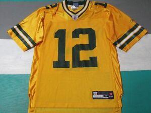 Green Bay Packers Yellow Aaron Rodgers Men's Medium Jersey Reebok