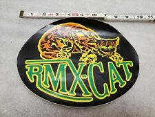 Vintage BMX Number Plate Decal Sticker RMX Cat Huffy murray mongoose MX Bicycle