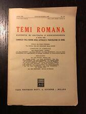 TEMI ROMANA Anno XIX n. 1-3 Gennaio-Marzo 1970
