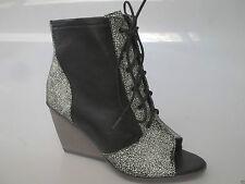 Django & Juliette 'Parry' Leather Wedge Boots