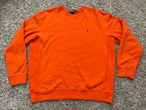 Vintage Ralph Lauren Polo Orange Reverse Weave Blank XL Crewneck Sweatshirt