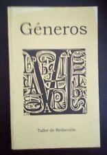 Generos - Taller de Redaccion - 2002