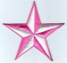 écusson ECUSSON PATCHE THERMOCOLLANT ETOILE ROSE BLANC 8,5 X 8,5 CM
