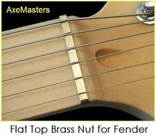AxeMasters EXTRA TALL FLAT TOP BRASS NUT for Slide - Guitar Dobro  FENDER S