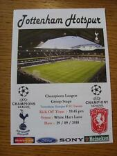 29/09/2010 Tottenham Hotspur v Twente [European Cup] [Pirate Issue: Inside Groun