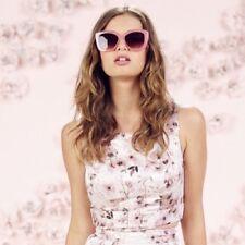 LC Lauren Conrad Sleeveless Crop Top Sz 14 Pink Runway Jacquard Print Summer NWT