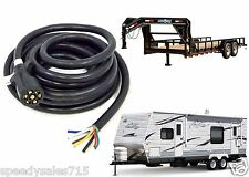 7 Way Blade Molded Trailer Wire 20' Feet Replacement Cable Cord Harness New USA