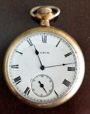 VINTAGE 16 SIZE 15 JEWEL ELGIN POCKET WATCH FROM 1928 KEEPING TIME GRADE 313