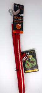 DOGlite Mini DOG Leash LED Lead Dual Handle 120cm Size S Red Nite