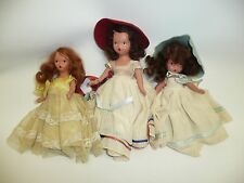 3 Nasb Dolls, 2 Stone Bisque, 1 Hard Plastic, July Has a Box