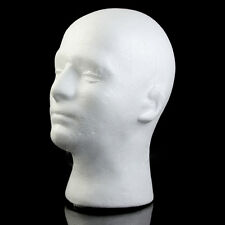 Styrofoam Foam Manikin Head Stand Model Wig hair Hat Mannequin Display Male Hot