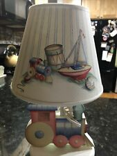 New listing Vintage Child's Wooden Train Lamp
