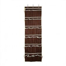 24 Pocket Shoe Organizer Rack Over the Door Fabric Hanging Storage Space Saver