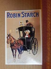 Postcard Advertising Robin Starch  Old Advert Modern card unposted