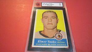 1957-58 TOPPS #27 ELMER VASKO (ROOKIE CARD) KSA 3 VG