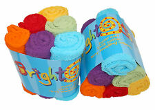 Bright Bots 6 pack Terry Towelling Nappy Squares Unisex Combo