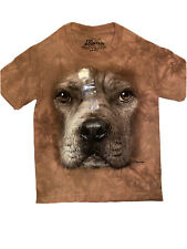 The Mountain Brown Pitbull Dog Face Youth T-shirt New Small 6-8