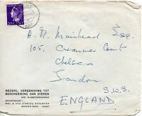 1947 Netherlands Cover to London with Vught Double Circle Cancellation