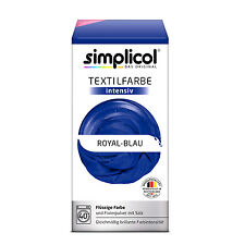 Simplicol Textile Intensive all in 1 Royal Blue Colour Incl. Fixierpulver