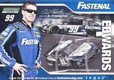2014 Carl Edwards Fastenal Ford Fusion NASCAR Sprint Cup postcard