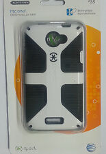 New Speck CandyShell Glossy Grip Hard Cover Case for HTC One X  White / Black