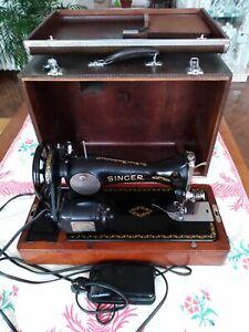 Ancienne machine à coudre Singer avec valise. JC123533. Parfait état de marche.