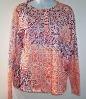 "Christopher & Banks Button Cardigan Sweater Womens M Colorful Embellished ""Gems"""