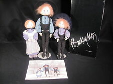 P. Buckley Moss Hannah Jacob Isaac Dolls COA and Original Box