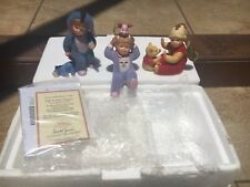 Ashton-Drake A very Pooh Christmas Collection Off to Bed Eeyore Set of 3