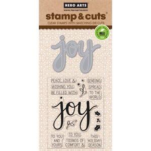 Joy Hero Arts Christmas Clear Stamp & Cut Thin Metal Die Set DC169 NEW!