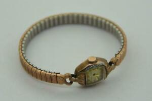 Antique Bulova 14K Rolled Gold Plate Ladies Woman's Wrist Watch