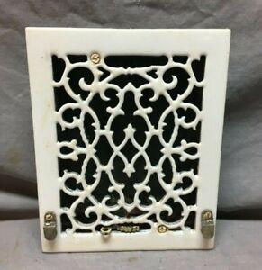 Antique Porcelain Cast Iron Decorative 7X8 Register Heat Grate VTG Old 849-20B
