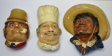 Vintage 1969  Bossons Heads Chef & Paddy &  Pancho Wall Plaque