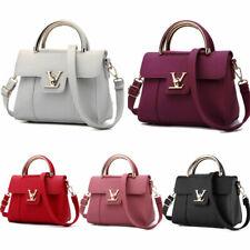 Women's Leather Messenger Satchel Bag Handbag ladies Shoulder Bags Tote Purse UK