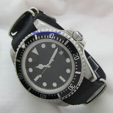 42mm Parnis 2813 Auaomatic Movement Men's Date Watch Back Luminous Dial