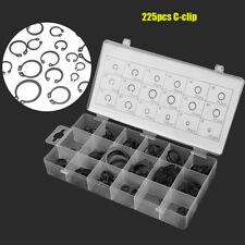 225pc Internal &external Retaining Ring Circlip Lock Snap Assortment Set 18 Size