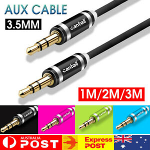 For Cantell 1M 2M 3M 3.5mm Male To Male AUX Audio Cable Speaker Auxiliary Cord