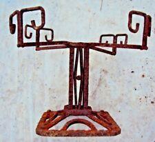 ancien pied support de coupe à fruits en fer forgé art-déco