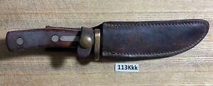 Vintage SCHRADE USA 165 OLD TIMER Deer Slayer Fixed Blade Knife.