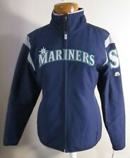 NWT Majestic Seattle Mariners Womens On-Field Thermal Jacket S Navy MSRP$130