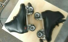 Quad Roller Skates Riedell Boots 120 Mens Size 10-1/2 Snyder Super Deluxe Trucks