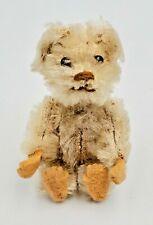 Schuco Picculo Miniature White Mohair Jointed Teddy Bear w/ Felt Pads 2-1/2""