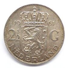 2�� Gulden, Silber, 1961, Niederlande < (1274)