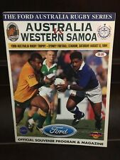 Rugby Union Programme - Australia V Western Samoa, August 6th 1994