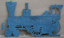 Rare Antique Late 1800's Steam Engine Farm Tractor Cut Sheet Copper Trade Sign
